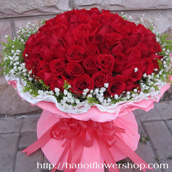 99 red roses bouquet for I will love you to the end of time