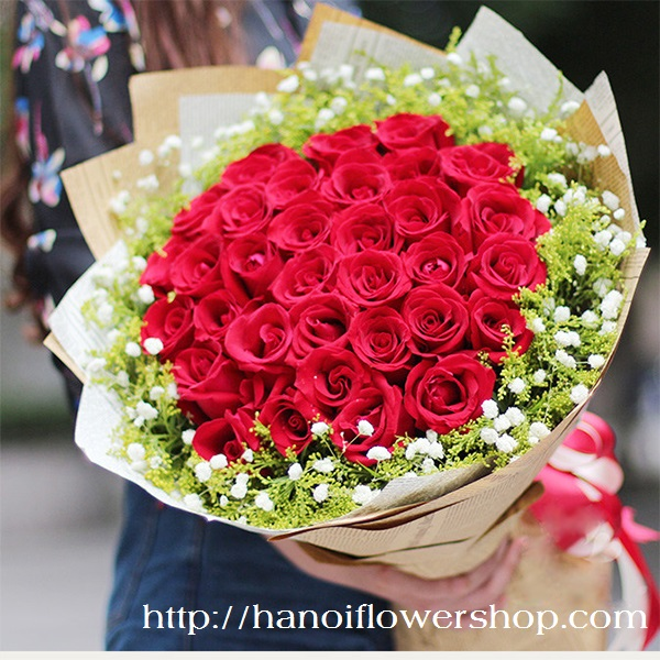 Beautiful red roses for your wife