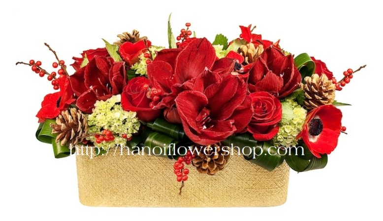 Christmas Flower Delivery to Hanoi, Vietnam
